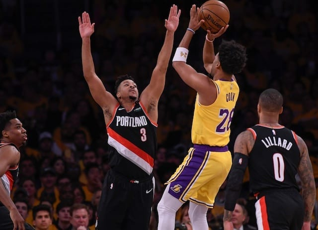 Lakers News Quinn Cook Argues Winning 2019 20 Nba Championship Would Be All The More Impressive Not Have An Asterisk Lakers Nation
