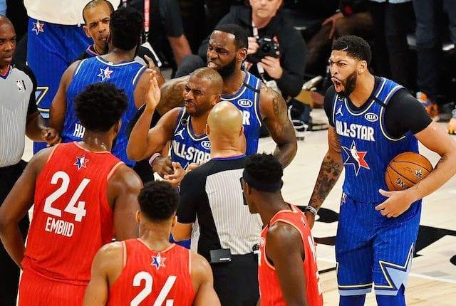 Anthony Davis, Joel Embiid, LeBron James, Chris Paul, 2020 NBA All-Star Game