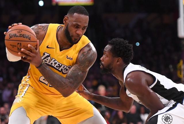 Patrick Beverley, LeBron James, Lakers