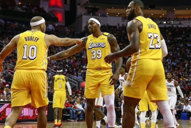 Jared Dudley, Dwight Howard, LeBron James, Lakers