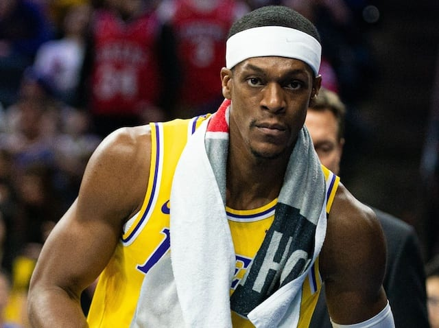 Lakers News Rajon Rondo Watched Practice After Successful Thumb Surgery