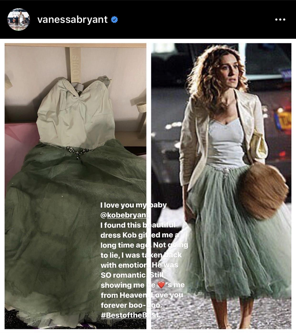 Vanessa Bryant, Instagram post