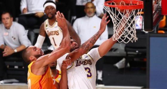 Kentavious Caldwell-Pope, Anthony Davis, Phil Handy, Frank Vogel, Lakers