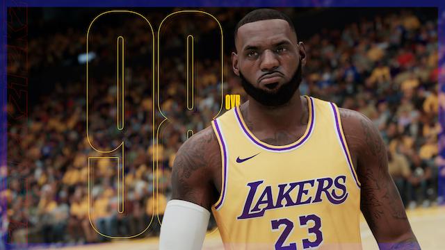 Lebron James, NBA 2K21 player rating