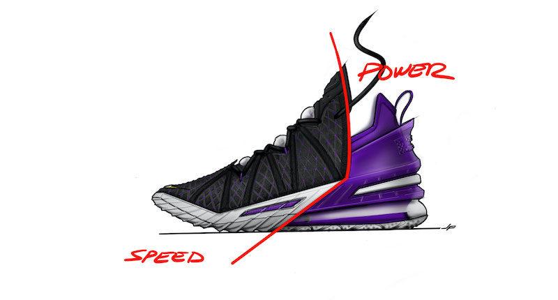 LeBron James, Nike LeBron 18 sketches
