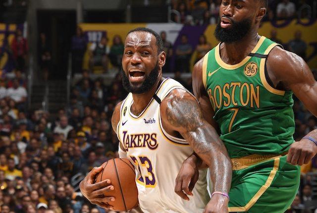Jaylen Brown, Boston Celtics, LeBron James, Los Angeles Lakers