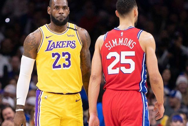 LeBron James, Los Angeles Lakers, Ben Simmons, Philadelphia 76ers