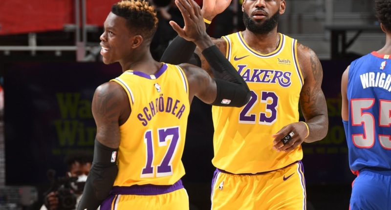 LeBron James, Dennis Schroder, Los Angeles Lakers