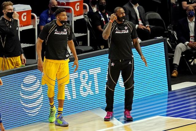 LeBron James, Los Angeles Lakers, Giannis Antetokounmpo, Milwaukee Bucks. All-Star Game