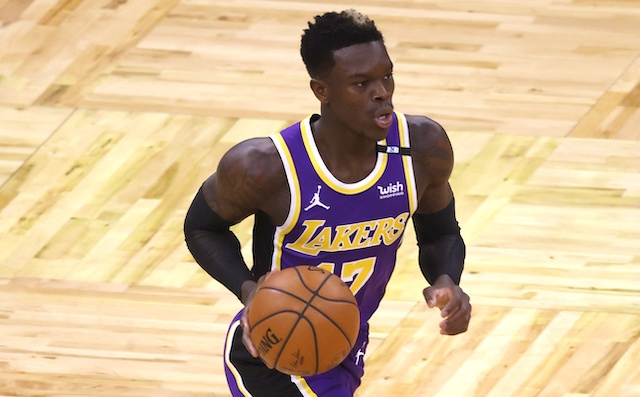 Los Angeles Lakers point guard Dennis Schroder has reportedly had conversations with the Boston Celtics in free agency.