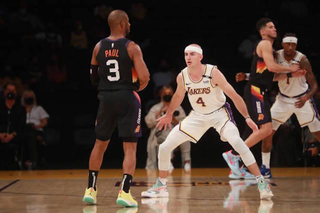 Chrs Paul, Alex Caruso, Lakers
