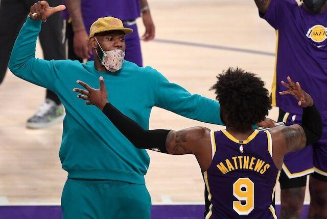 Lebron James, Wesley Matthews, Lakers