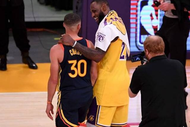 Stephen Curry Lebron James Lakers